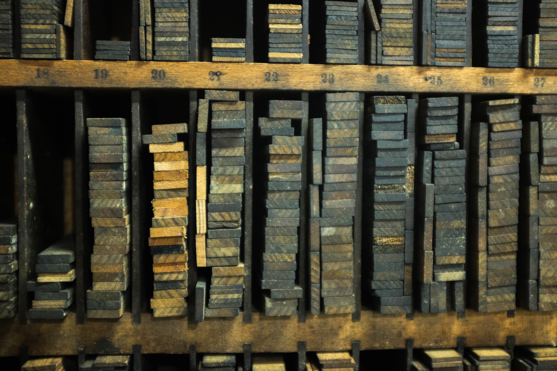 Radix Media - reglets for letterpress printing.