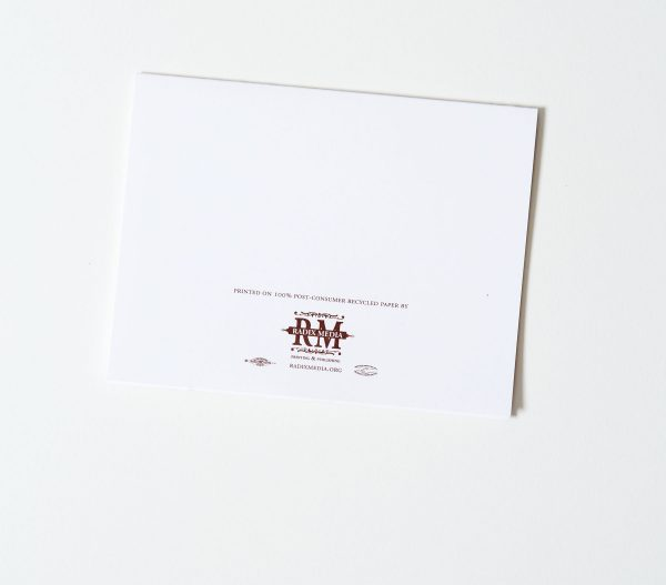 Offset Thank You Card Back