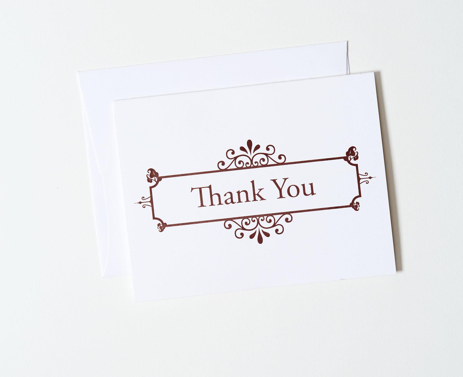Offset Thank You Card