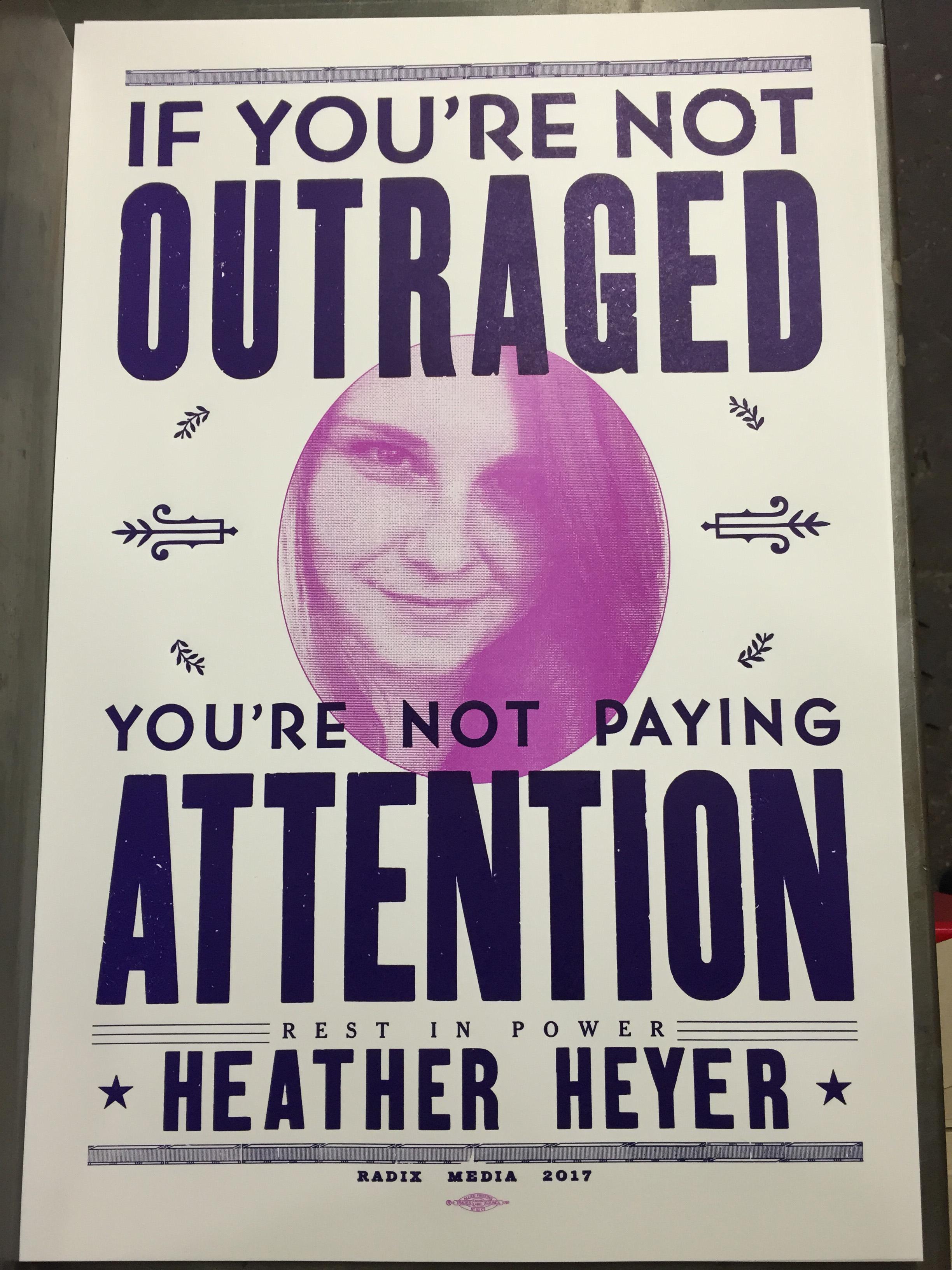 Heather Heyer Tribute Poster Radix Media Printing