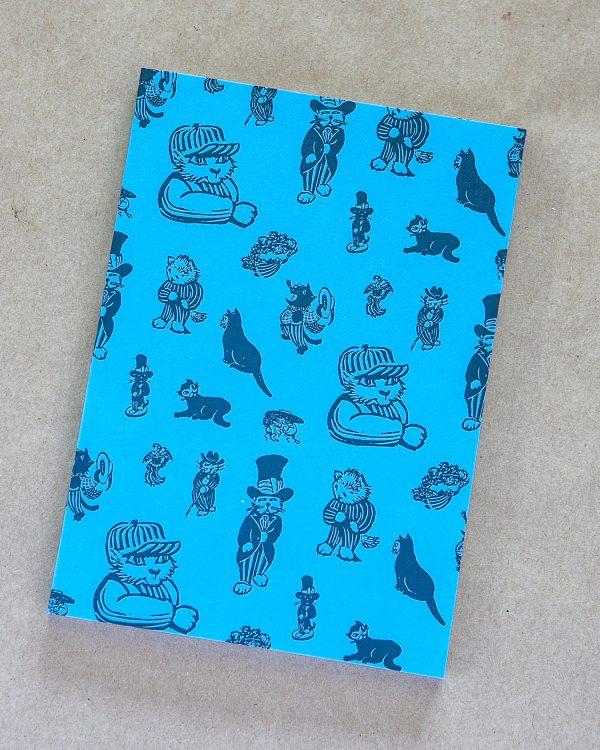 Cat Notebook - Blue