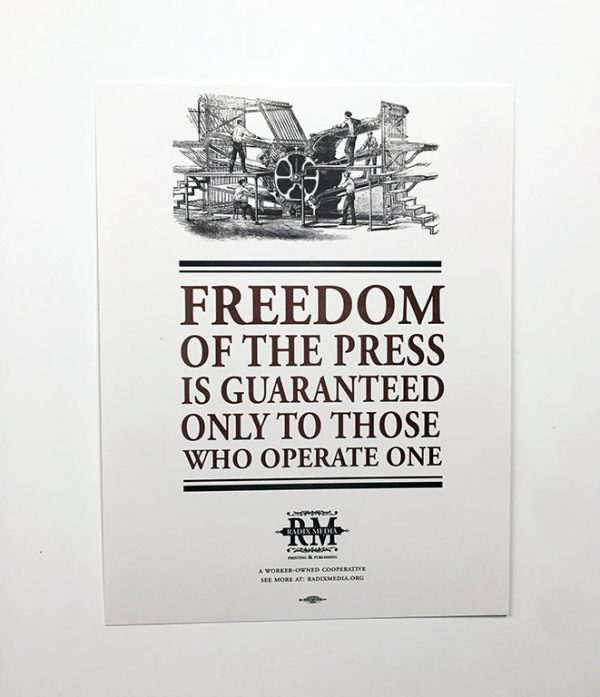 Freedom of the Press Poster