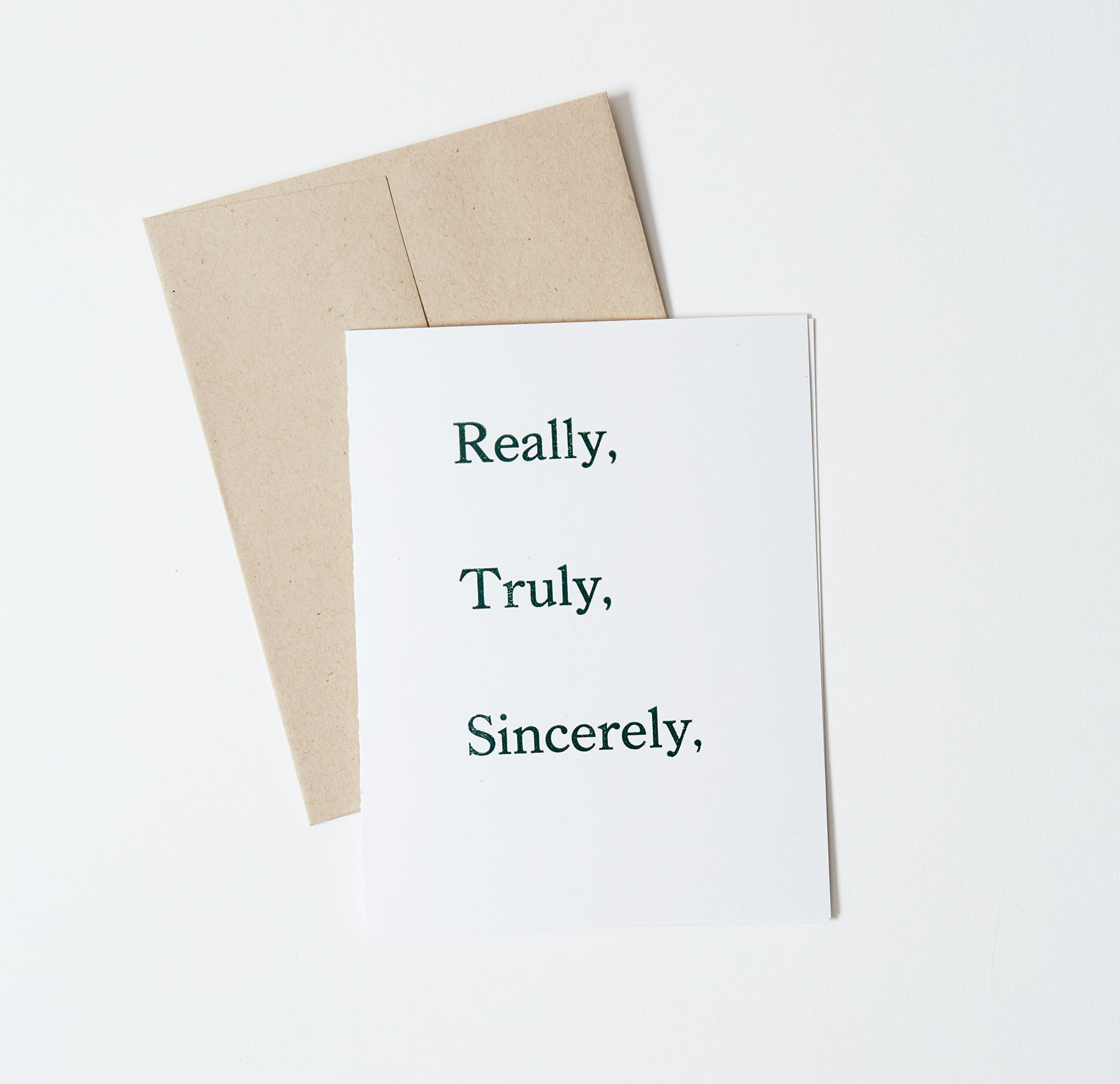 Really, Truly, Sincerely Thank You Note Card