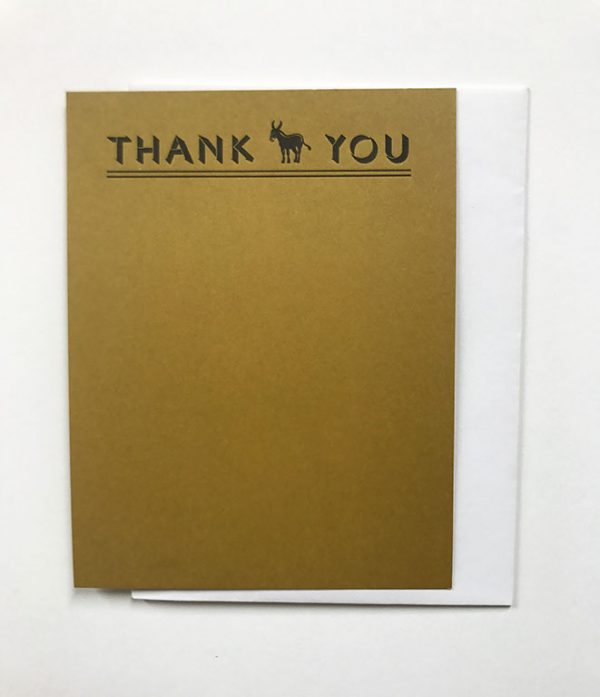 Donkey Note Card Set - Brown
