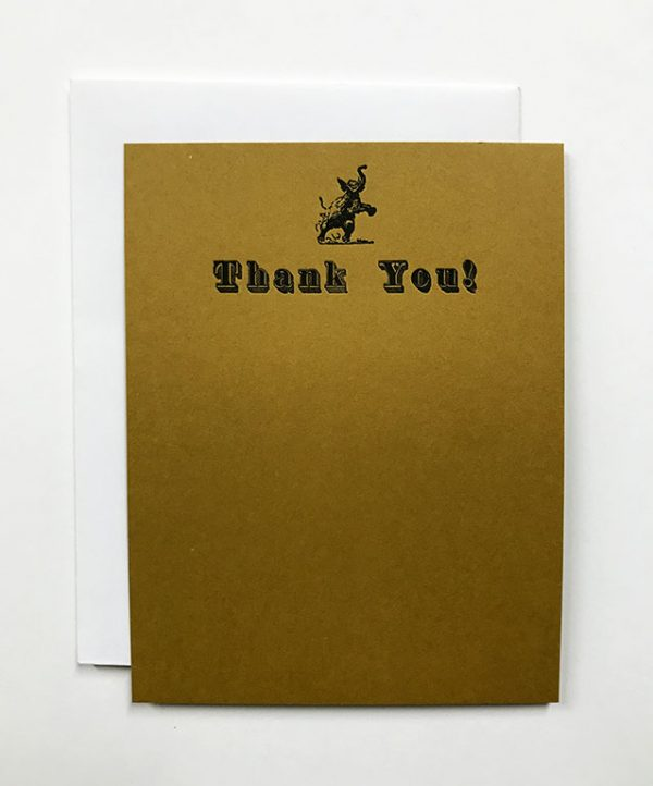 Elephant Note Card - Brown
