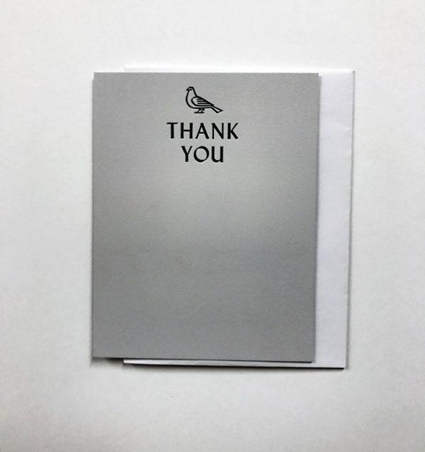 Pigeon Note Card - Grey