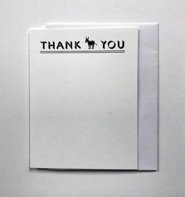 Donkey Note Card Set - White