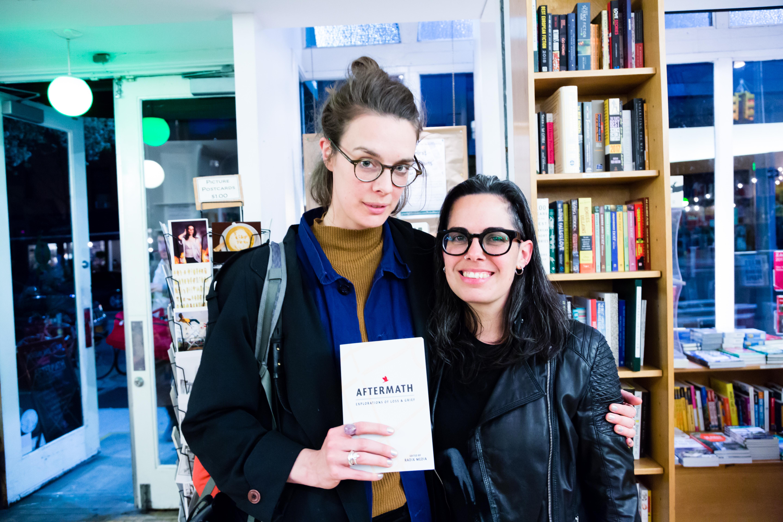 AFTERMATH Launch - María José Giménez and friend.