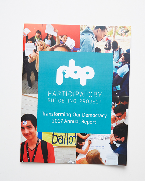 Booklets - Participatory Budgeting Project Annual Report (front)