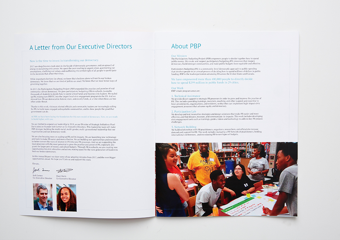 Booklets - Participatory Budgeting Project Annual Report (interior)
