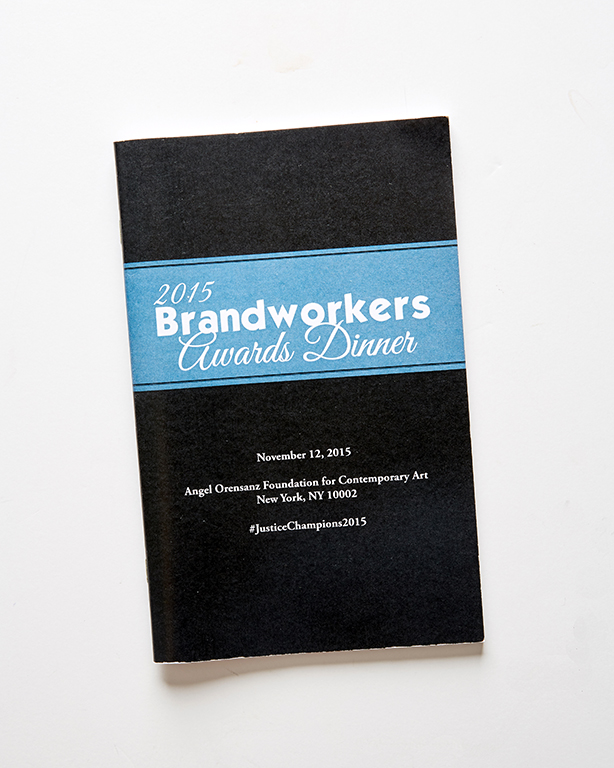 Booklets - Brandworkers Dinner Journal (front)