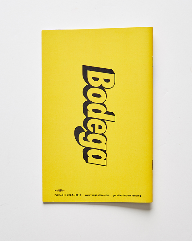 Booklets - Bodega Zine (back)