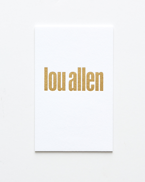 Business Card- Lou Allen