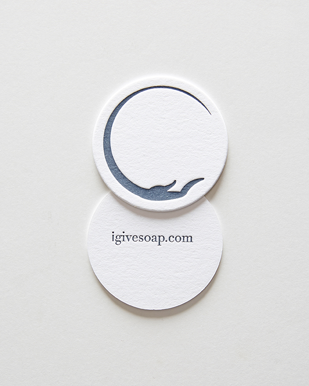 Business Card - Give Soap (circular die-cut)