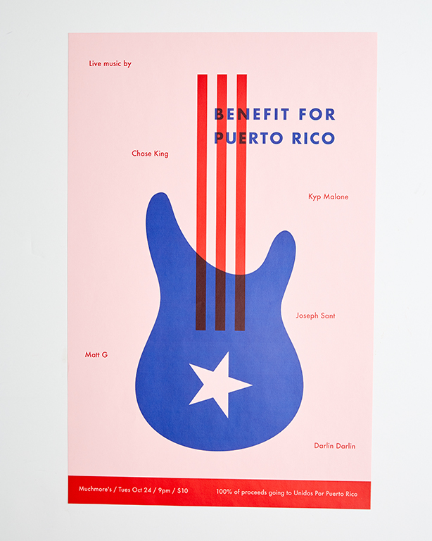 Posters - Benefit for Puerto Rico