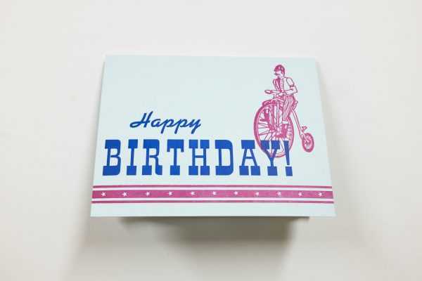 Happy Birthday A2 Note Card - Front