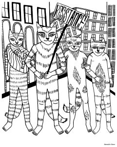 Be the Change: A Justseeds Coloring Book - Cooperation Cats by Meredith Stern