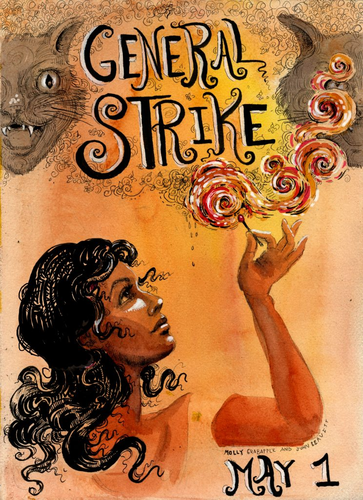 Molly Crabapple - General Strike poster
