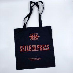 Radix Media Seize the Press Black Tote Bag