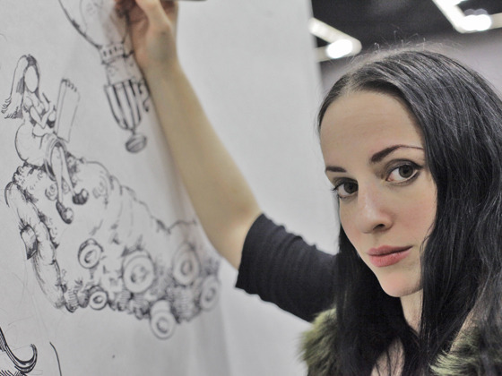 Molly Crabapple, artist of FANNING THE FLAMES