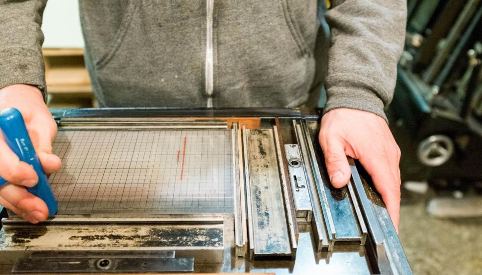 A letterpress lockup.